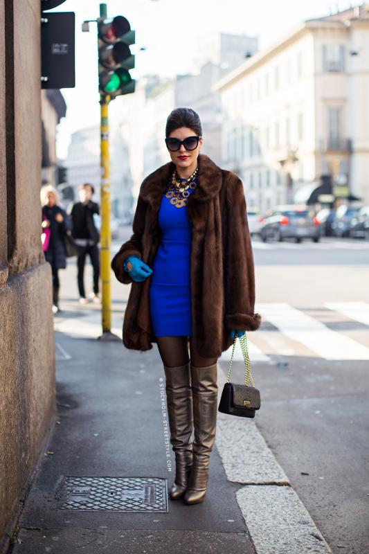 Уличная мода италии зима фото
